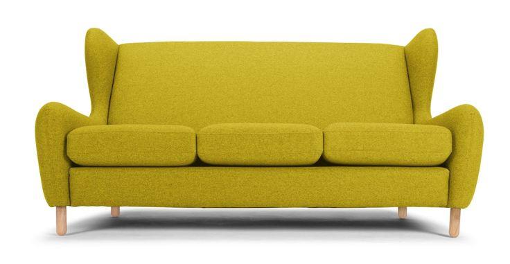 Rubens 3 Seater Sofa Kelp Green Wool Mix Made Com