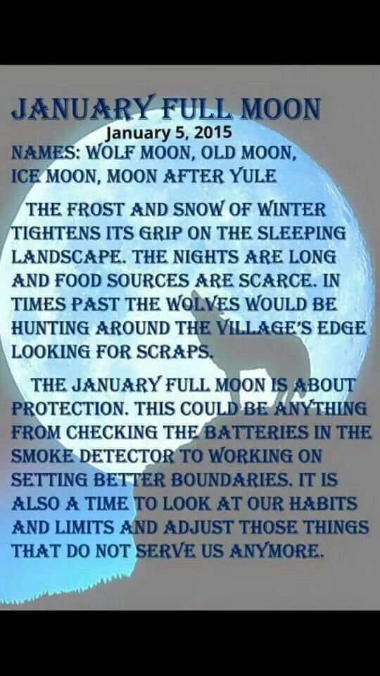 January Full Moon - January 5, 2015