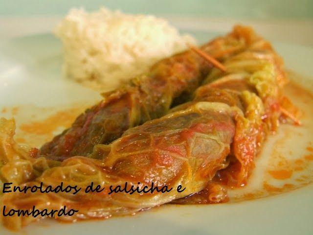 Enrolados de salsicha e lombardo / Sausage and cabbage rolls