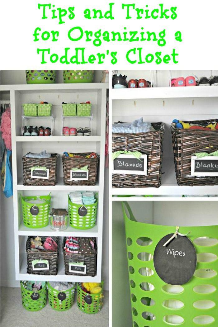 Tips and tricks for organizing a toddler's closet http://www.hometalk.com/l/MrG