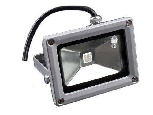 Laykor 10 Watt (10W) LED Weatherproof Floodlight Outdoor Security Flood Light, 85-265V AC, RGB 16 Colors by Laykor. $29.99. This long life LED light is your energy saving and healthy choice. Suitable for different applications such as sign illumination, for up-lighting, to light pathways, to accent trees, lawns and landscaped areas, signs/billboards, building interiors/exteriors, and large objects such as building murals, statues, aquarium reef coral tanks and Am...