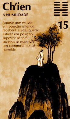 """El hexagrama 15 es llamado 謙 (ch'ien), """"La Modestia""""."""