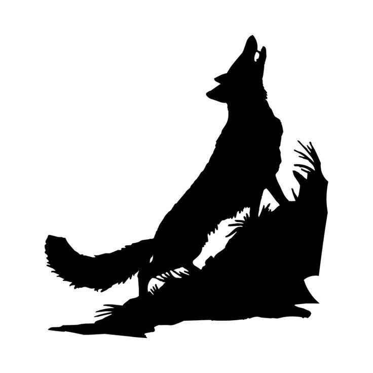 14.3*15.2 CM Moda Etiqueta Do Carro Lobo Que Cobrem O Corpo De Engraçadas Decalques de Vinil Preto/Prata S7-0361(China (Mainland))