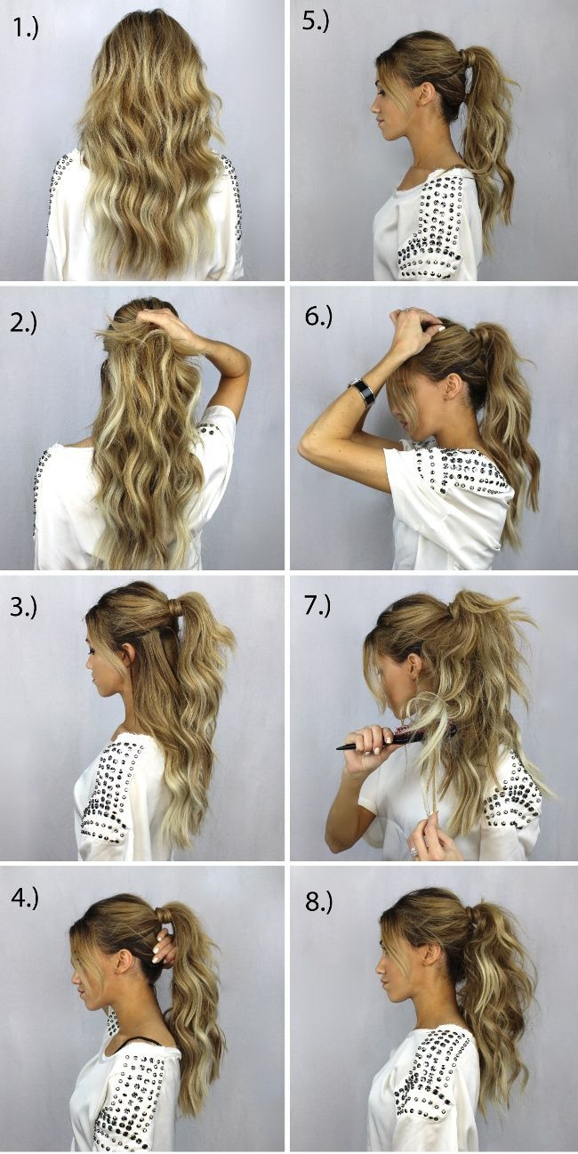 what are some nice party hairstyles for long hair step by