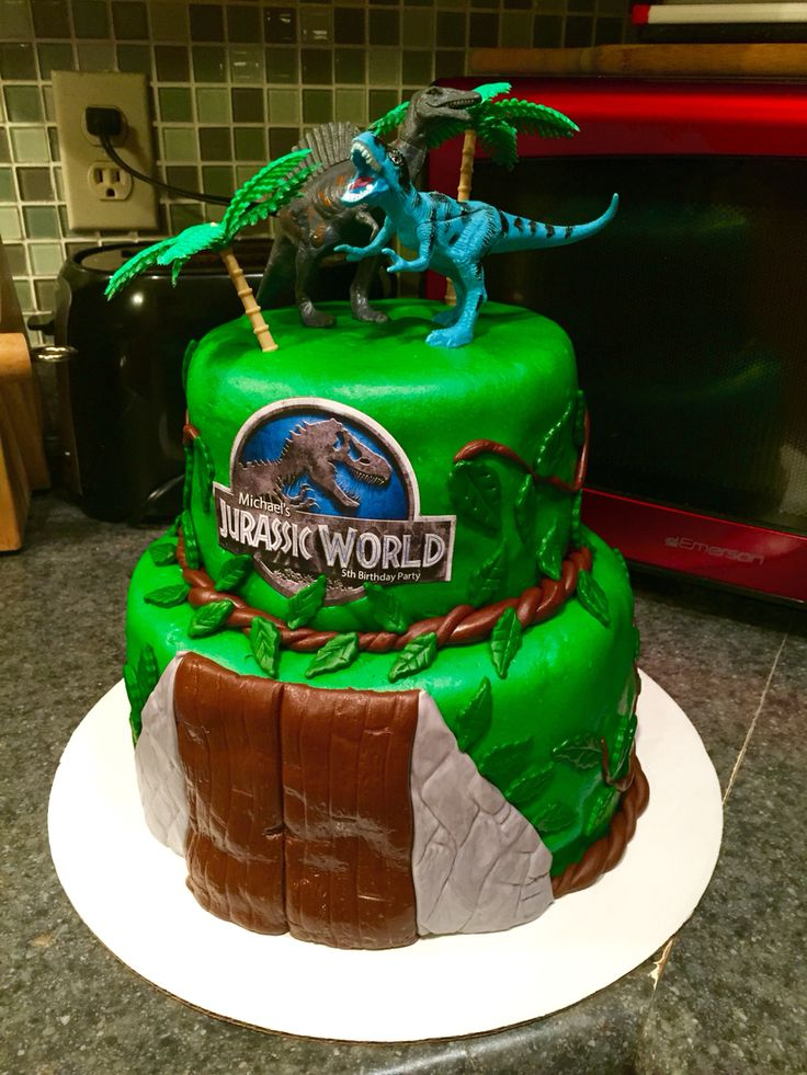 Jurassic World Cake Baking Pinterest World Cakes