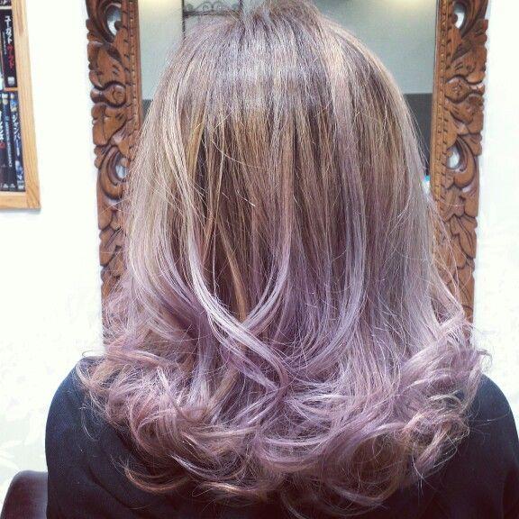 Pastel lavender Haircolor❤  パステル ラベンダー ヘアカラー  立体感を出しながらブリーチブリーチ  根元はプラチナブラウン毛先はパステルなラベンダーカラーに  透明感のあるラベンダーが可愛いですね  Hairsalon Welina Chiba japan Hitomi.yanagida Myworks