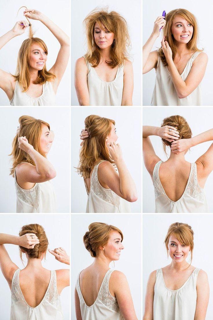 Взъерошенные и скрученные волосы пошагово