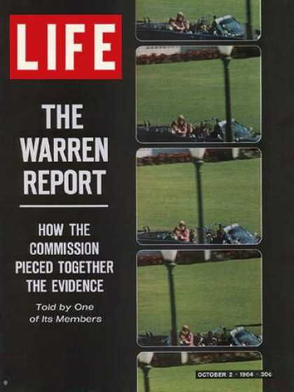 a report on the american presidents john f kennedys assassination The warren commission report: the official report of the president's commission on the assassination of president john f kennedy.
