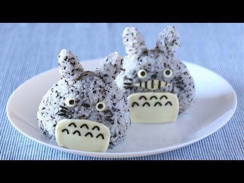 "This video will show you how to make Totoro Onigiri (Rice Balls).    Rice ball is called ""Onigiri"" in Japanese. Mostly it's shape is triangle and you can mix ingredients into rice and/or fill your favorite ingredient in the rice ball.    It is perfect for Bento box!    ---------------------------------  Totoro Onigiri    Difficulty: Very Easy  Time: 5min  ..."