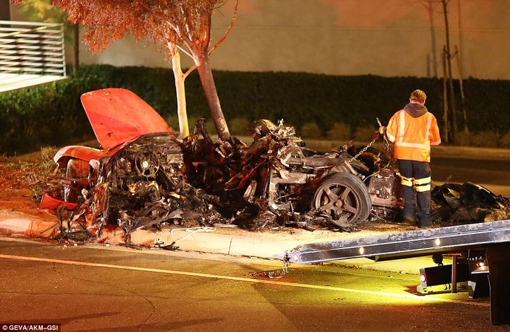 Burnt out: Paul Walker, who had turned 40 in September, died in the sports car which burst into flames in California