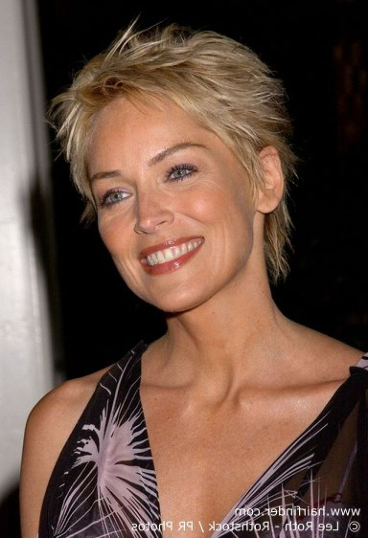 Below unique new sharon stone hairstyles 2015 images - Coupe courte blonde ...