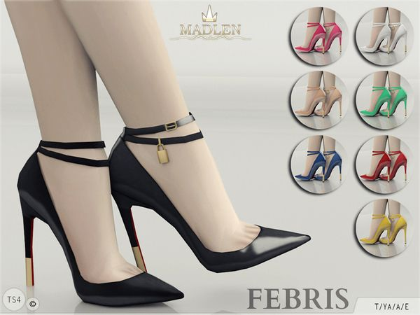 Sims 4 Updates: TSR - Shoes, Shoes for females : Madlen Febris Shoes by MJ95, Custom Content Download!