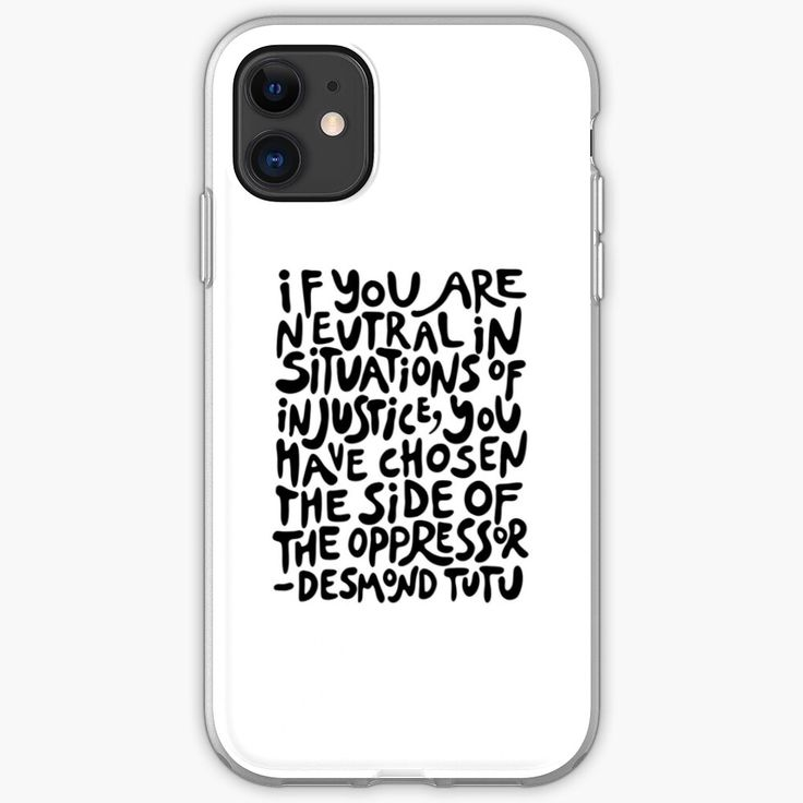 If You Are Neutral In Situations Of Injustice You Have Chosen The Side Of The Oppressor Activist Quote In Groovy Activist Quote Injustice Black Iphone Cases