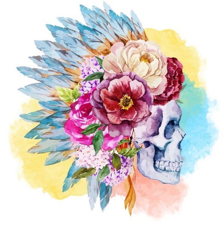 Sugar Skull Beauty canvas