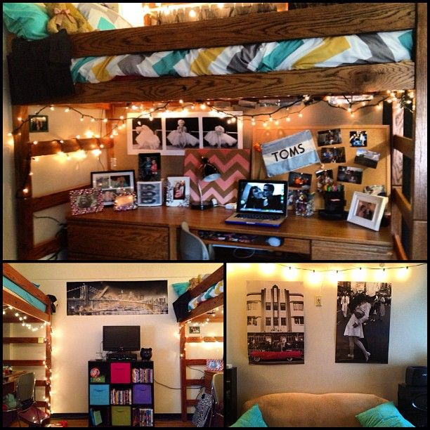 """<3 this dorm room, love the TOMS flag haha""  Hahahaha This is my room and it somehow appeared on pinterest??"