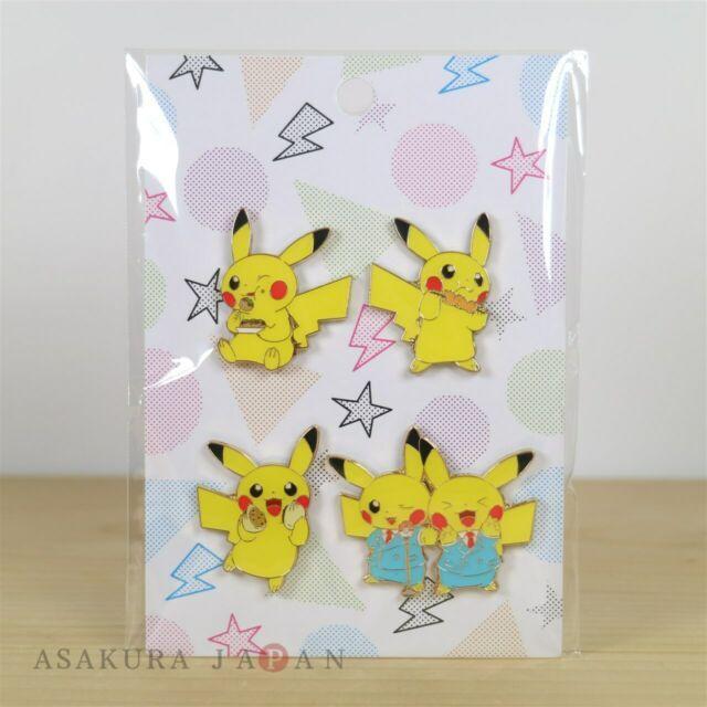 Pokemon Center Original OSAKA DX Pin Badge 4 Pins MANZAI Pikachu