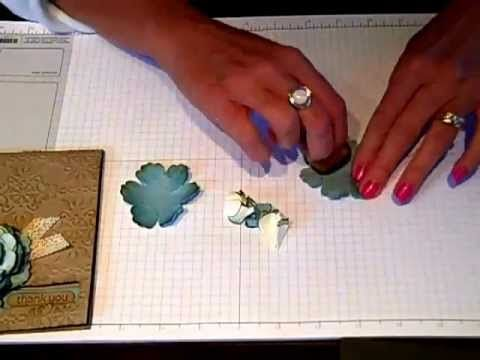 Simply Simple FLASH CARD Vintage Flower by Connie Stewart - YouTube