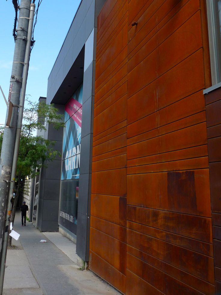 Location: 2 Gladstone Ave.  Toronto, ON, M6J 0B2  Product: CorTen Steel  Photographer: Ryan Brown