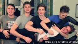 youtube boyband Marcus butler, alfie deyes, Jim chapman, Joe sugg, and Casper lee