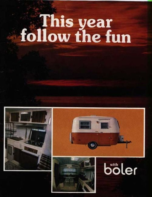 The Happier Camper • Vintage Ultra Light Travel Trailers. For those of you who didn't know a Boler was a brand of trailer (like me.)