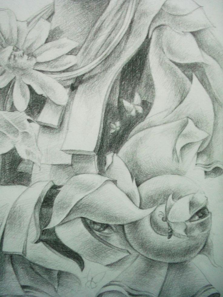 Drawing Pencil on Paper by Sittichai Pijitam (cycnas)