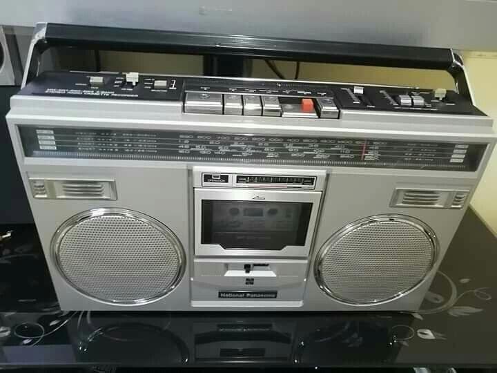 مسجل ناشيونال باناسونيك ستريو ياباني من استيراد العراق 1980 وسعره 85 دينار Car Radio Radio Car