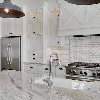 Super White Granite Counters, Transitional, kitchen, Parade of Homes