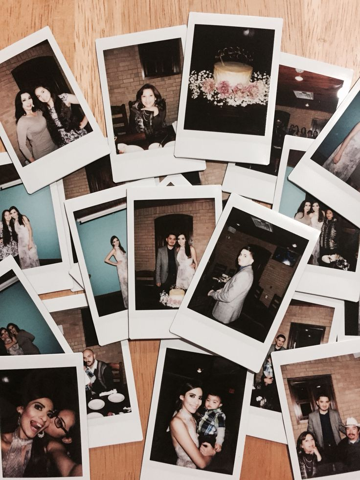 We had a small Polaroid camera that we used to take pictures of our engagement dinner. It made it that more special. I am a fan of vintage and this was the perfect touch. #vintagelover #polaroids