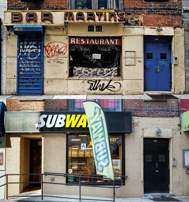 Before and After: What a difference - These Eye-Opening Photographs Capture The Rapid Gentrification Of NYC