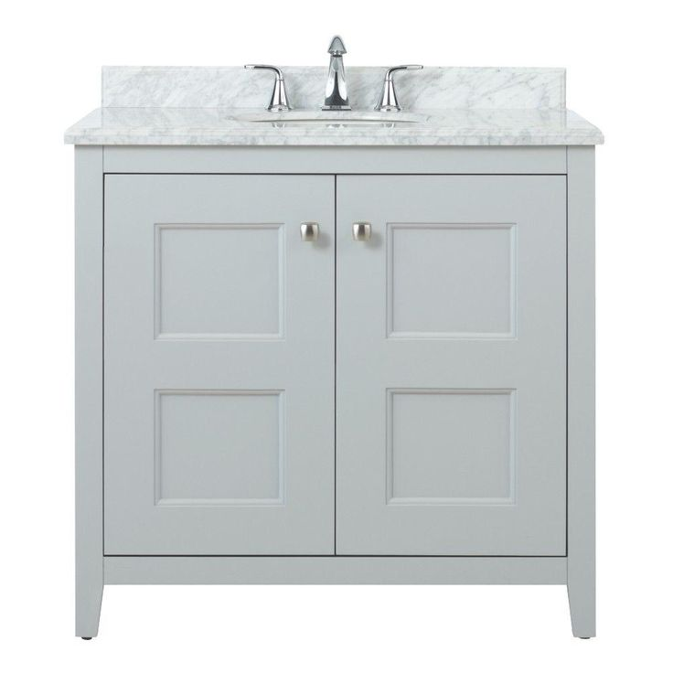 Home Decorators Collection Union Square 36 In Vanity In Dove Grey With Natural Marble Vanity