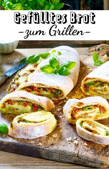 Gefülltes Brot zum Grillen   – Brot & Brötchen