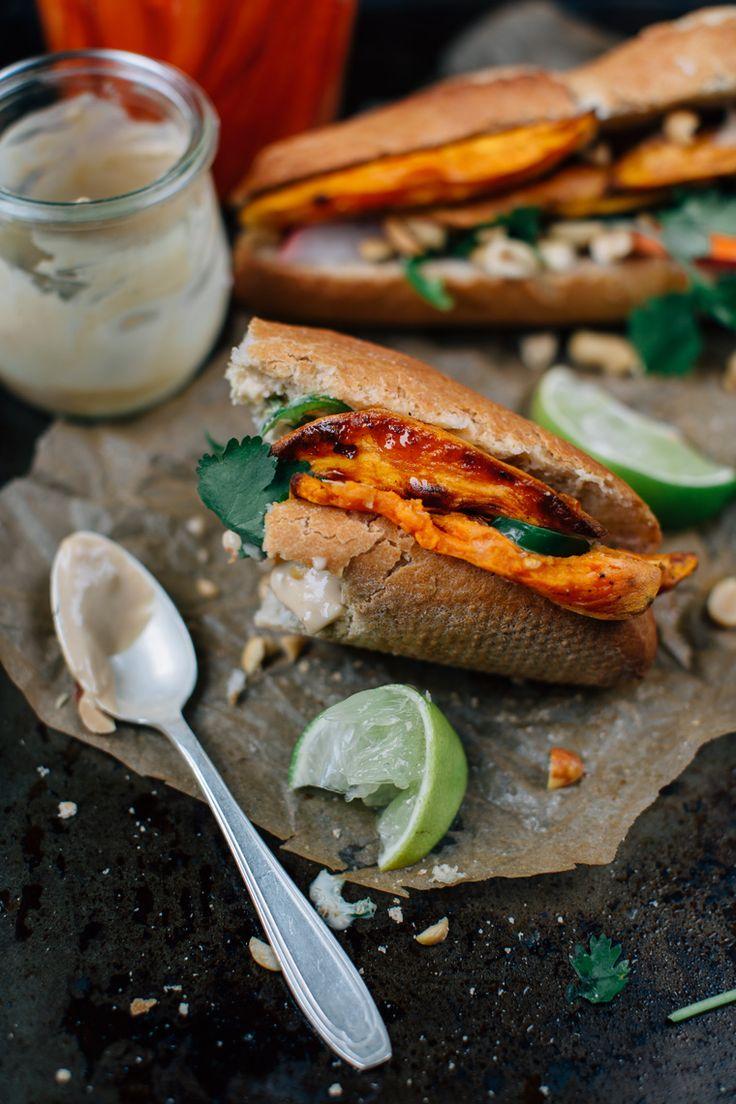 Smokey Sweet Potato Bánh Mì - Earthy Feast