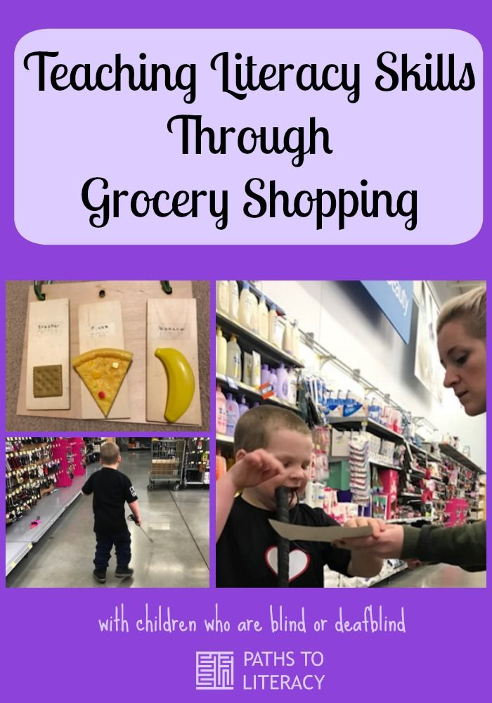 Teaching literacy skills through grocery shopping with children who are blind or deafblind