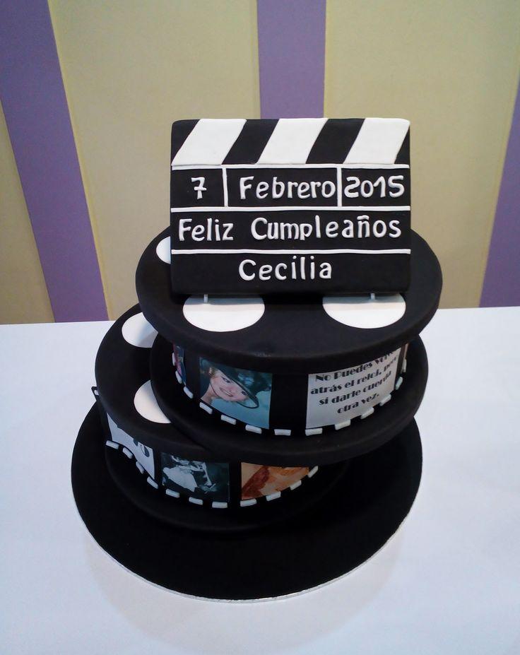 TARTA CARRETE CINEMATOGRAFICO 40 CUMPLEAÑOS