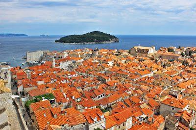 Dubrovnik Dalmatian Coast, Dubrovnik terracotta roofs, Minceta tower