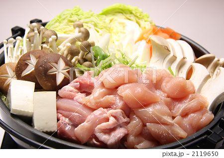 関西風 鶏すき鍋 横