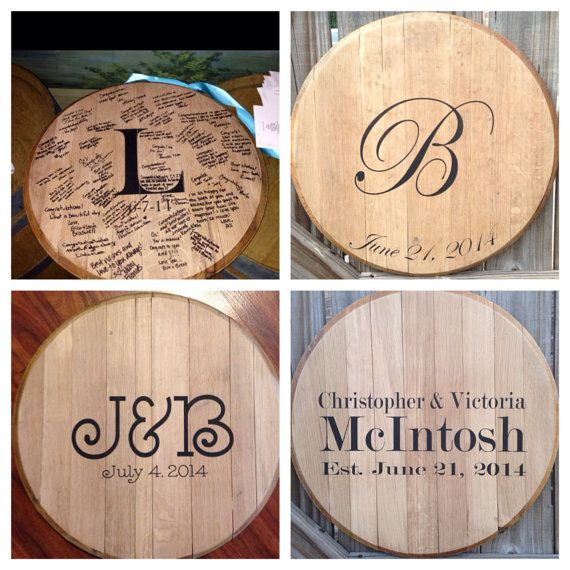 Hey, I found this really awesome Etsy listing at https://www.etsy.com/listing/153494106/bourbon-whiskey-barrel-head-wedding