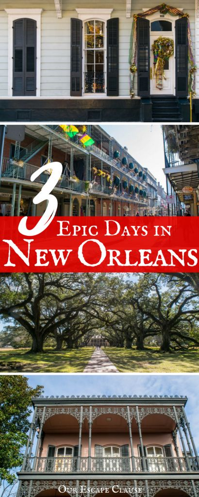 The only itinerary you need for 3 days in New Orleans: learn what to do, where to eat, how to get around, and more! The Big Easy is easy to love--3 days in NOLA is more than enough time to fall in love with it.