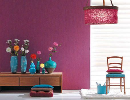 Turquoise is great. Just grab some vases and some different flowers. Instant wow