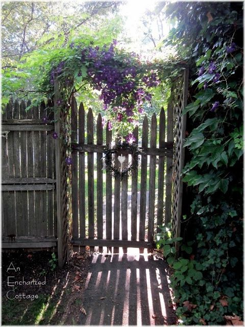 heart cut out in picket fence gate nantucket style old weathered entry