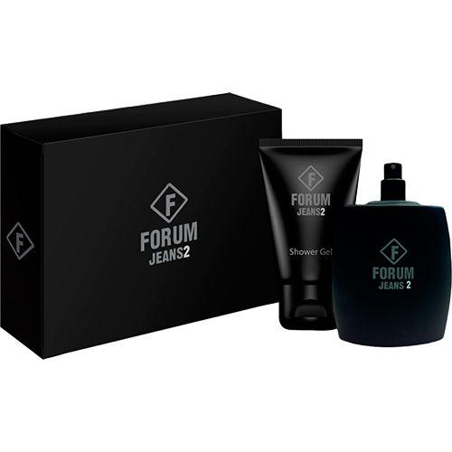 Sou Barato Kit Perfume Forum Jeans2 Unissex Eau de Toilette 100ml + Shower Gel 90ml - R$44,00
