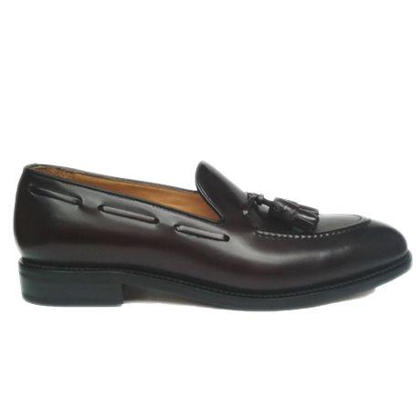 Berwick zapato mocasín tassel burdeos