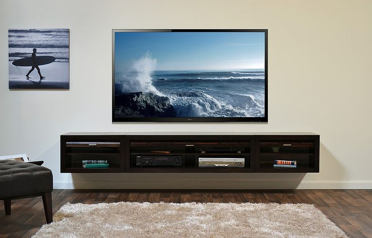 Looking for the perfect wall mount console for the living room. Is this it? Wall Mount TV Console ECO GEO Entertainment Center Espresso