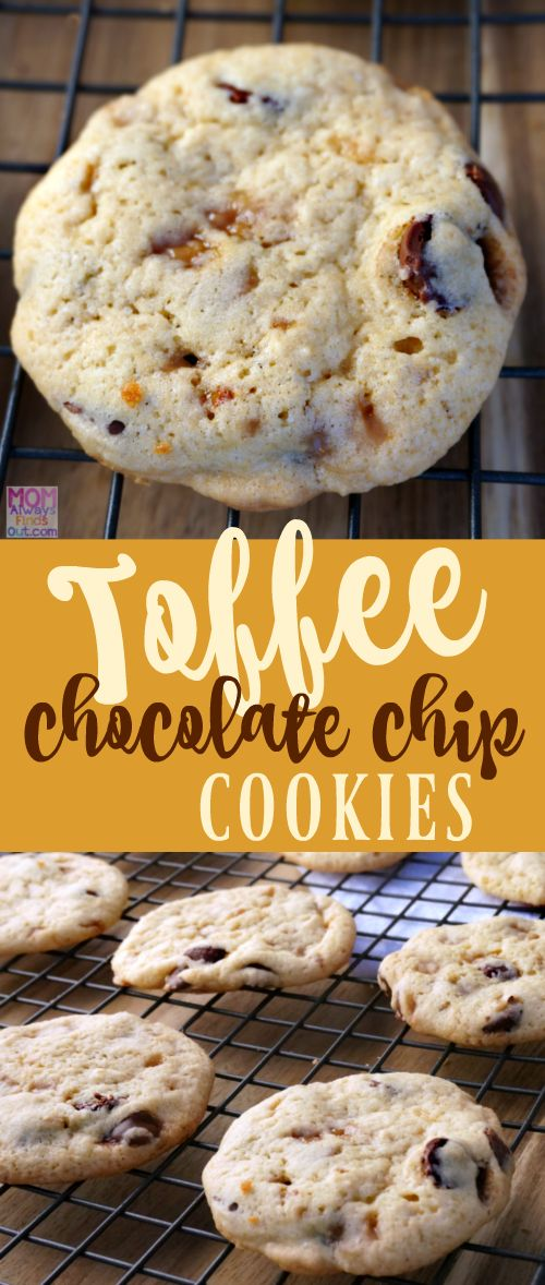 Make It Yours™ Toffee Chocolate Chip Cookies Recipe at @momfindsout #MakeItYourOwn