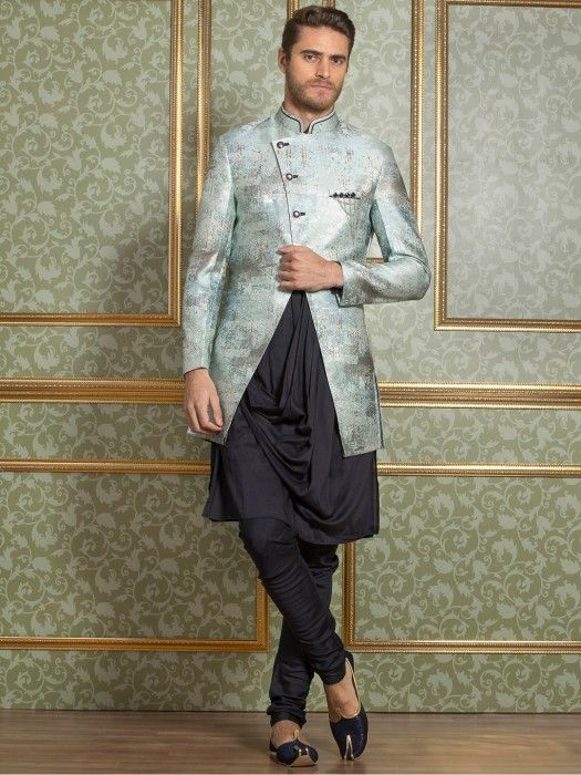2146b43e Light Dark Grey Indo Western, mens fashion, fashion for men, mens ...