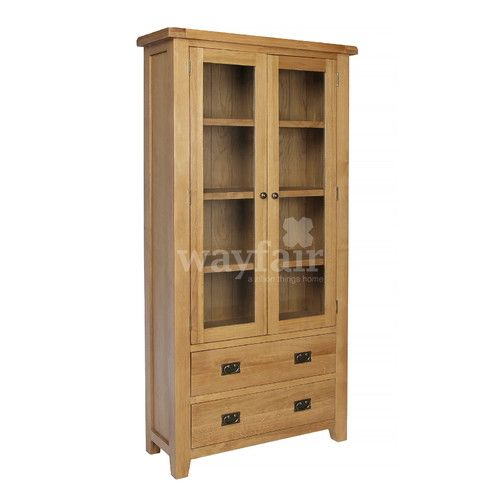 Found it at Wayfair.co.uk - Inisraher Solid Oak Display Cabinet