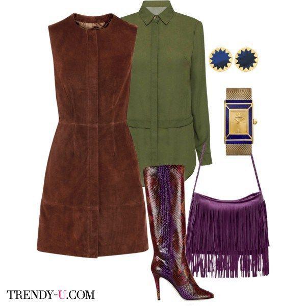 Платье для цветотипа Осень