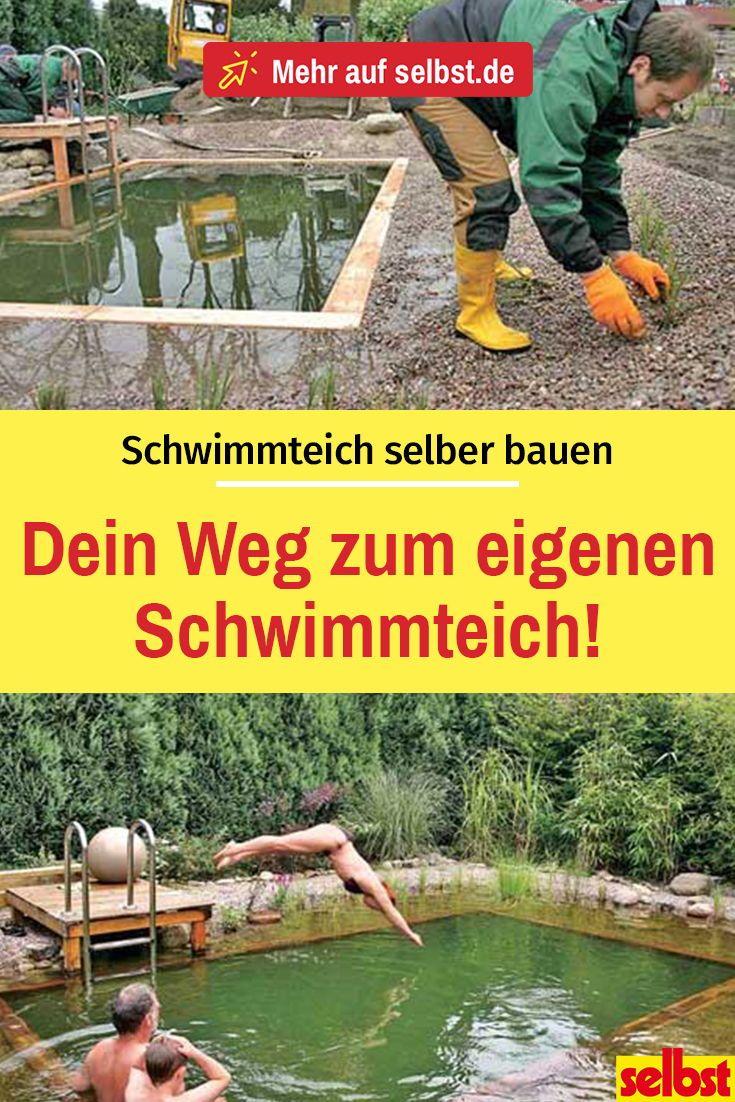 Construa um lago de natação você mesmo   – Gartenteich, Springbrunnen etc.