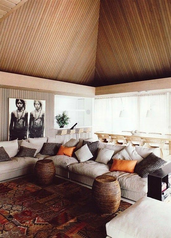 i love the way the stools are shoved against the sofa. Not that there aren't a million things to like about this...
