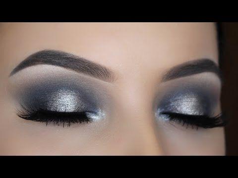 Smokey Silver Halo Eye Makeup Tutorial - YouTube
